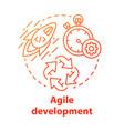 agile development concept icon short term