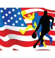 american sportsmen background vector image