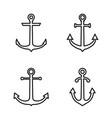 anchor icon set flat design vector image