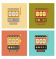 Assembly flat icons slot machine
