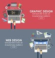 banners for graphic design and web design vector image vector image