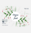 beautiful wedding card design in flower style vector image vector image