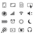 big data icon set sign of mobile phone vector image vector image