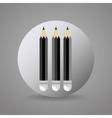 black and gray pencils icon vector image