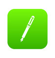 black fountain pen icon digital green vector image vector image