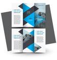 brochure design template tri-fold triangles vector image vector image
