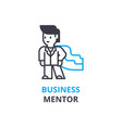 business mentor concept outline icon linear vector image vector image