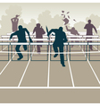 Businessmen hurdles vector image vector image