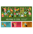charity types horizontal banners vector image vector image