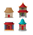 china house design collection set vector image vector image
