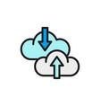 cloud arrow data transfer download vector image