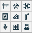 construction icons set with set of keys drawing vector image