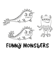 Contour Monsters Set vector image vector image