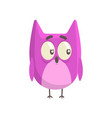 cute little funny purple chick bird standing vector image vector image