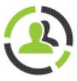 demography diagram halftone icon vector image vector image