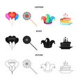 design of party and birthday icon vector image