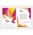 document letter or logo style cover vector image vector image