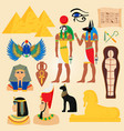 egypt symbols and landmarks ancient pyramids vector image vector image