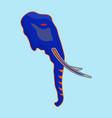 elephant side view esports logo mascot vector image vector image
