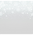 Falling snow backdrop on transparent background