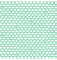Fish scale green seamless pattern vector image