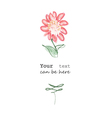 Flower with text vector image