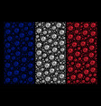 french flag mosaic of ladybird bug icons vector image