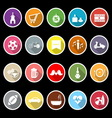 Friday and weekend flat icons with long shadow vector image vector image