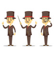 Funny cartoon victorian vector image