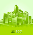green eco town suitable for ecologic purposes vector image