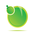 green two circle vector image vector image