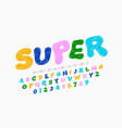 Hand drawn doodle style kids font