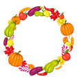 harvest frame with fruits and vegetables vector image