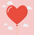 Heart balloon icon vector image