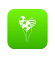 holiday balls icon digital green vector image vector image