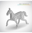 horse 3d vector image