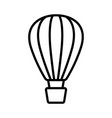 hot air balloon icon on white background vector image
