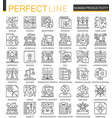 human productivity outline mini concept symbols vector image vector image