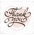 Inscription Thank you Original handwritten vector image