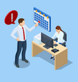 isometric office workers and business people vector image