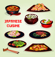 japanese cuisine lunch icon for asian food design vector image vector image
