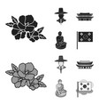 korean in national headdress korean monastery vector image vector image