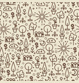 line art nature seamless pattern - seamless vector image vector image