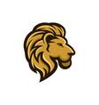 lion logo design modern awesome mascot vector image vector image