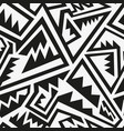 monochrome tribal pattern vector image vector image