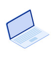 online education isometric on laptop e-learning vector image vector image