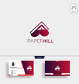 paper mountain creative logo template with vector image vector image