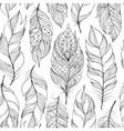 pattern with abstract feathers vector image vector image