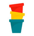 plant pot icon flat style vector image
