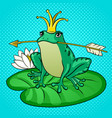 princess frog pop art vector image vector image